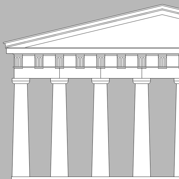 Drawing Lines Using Css : Parthenon line drawing